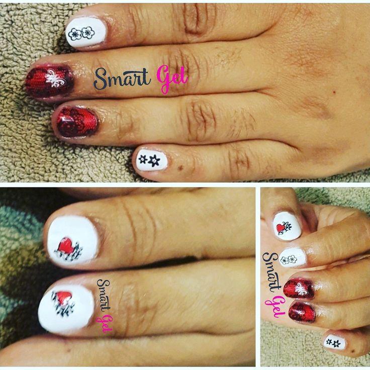 Red & White nailart Manicure   💅 #nails #nail #fashion #nailart #nailpolish #polish #nailswag #beauty #beautiful #pretty #girl #girls #stylish #sparkles #styles #glitter #art #photooftheday #love #style #shiny #cute #manicure #stampingnailart #smartgel #red #white