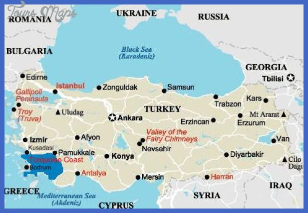 awesome Turkey Map Tourist Attractions