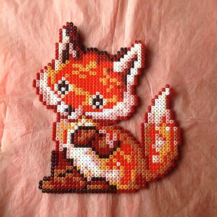 Fox perler beads by flappymatsu
