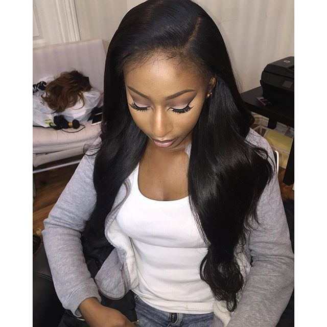 """"""" THEIR NOT HER EDGES  Mongolian Lace Frontal ❌no edges left out ❌ no tape ❌ no glue    HAIR USED - Mongolian 14"""" frontal    Vietnanese bundles 18""""20""""22""""24"""" 400g    installed by @linnylovex @linnylovex @linnylovex @linnylovex"""" Photo taken by @hairfromhim on Instagram, pinned via the InstaPin iOS App! http://www.instapinapp.com (02/01/2016)"""