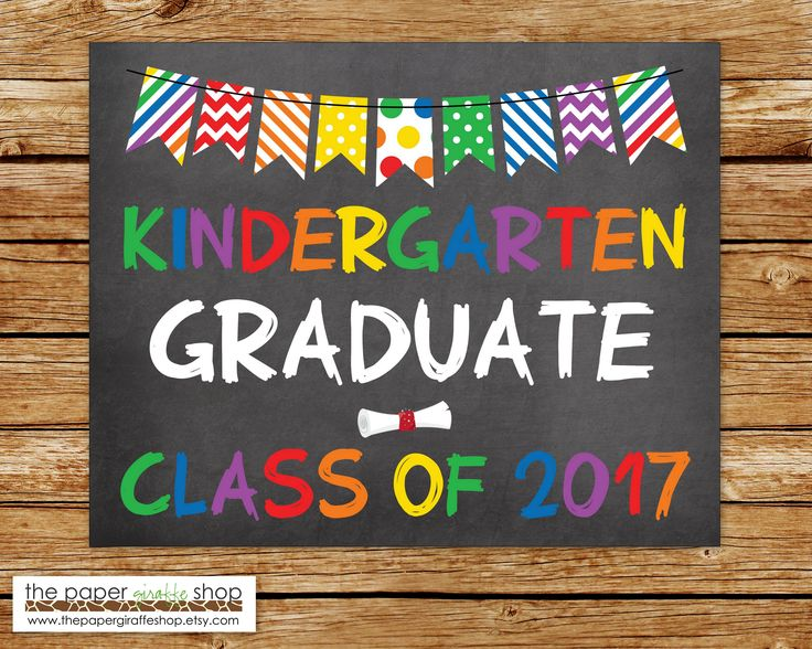 Kindergarten Graduation Sign | Chalkboard Sign | Graduation School Sign | DIY School Sign | Kindergarten | Graduation Photo Prop by ThePaperGiraffeShop on Etsy