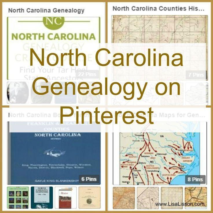 North Carolina Genealogy on Pinterest.