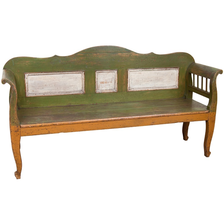 1stdibs | Painted Pine Bench