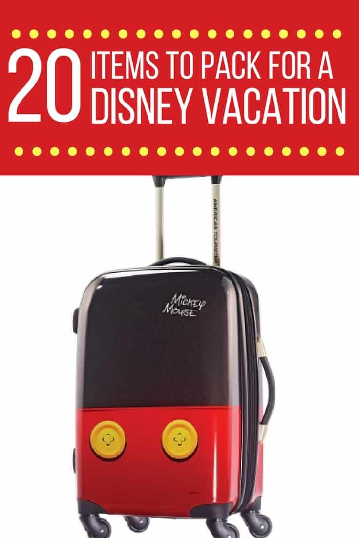 There are things you need for any vacation, but packing for Disney is a little different.  Let me share my must have list for a trip to Walt Disney World. via @disneyinsider