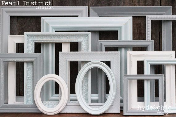 Shabby Chic Picture Frame Set / Upcycled door hydeandchicboutique, $52.00