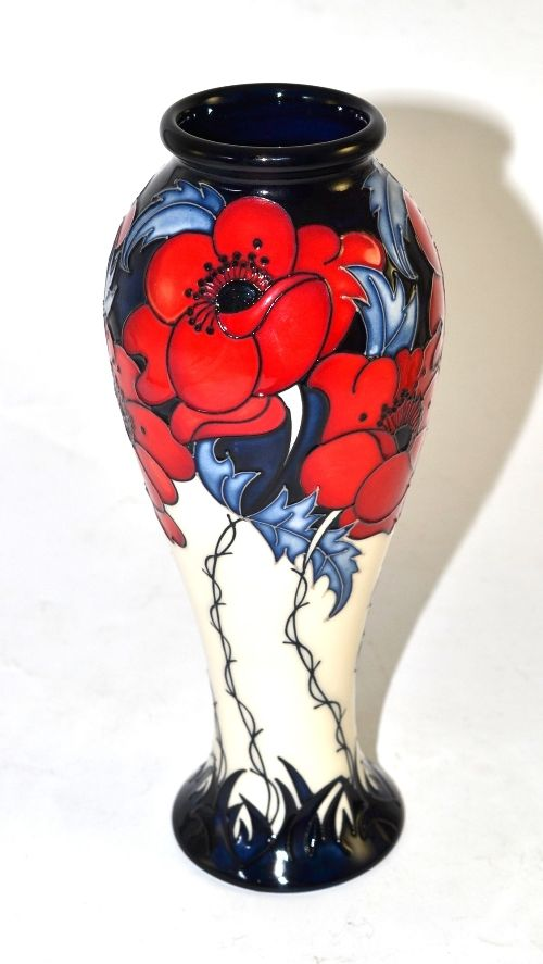A modern Moorcroft `A More Sacred Place` 75/8 collectors club vase