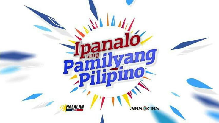 "This is the slogan and logo of the ABS-CBN 2016 Summer Station ID and Halalan 2016 Station ID, ""Ipanalo ang Pamilyang Pilipino!"" This is a theme and station ID which depicts about how Filipinos in the Philippines and abroad should be able to vote wisely in the 2016 Philippine general elections and to win the Filipino family. #Halalan2016 #IpanaloangPamilyangPilipino"
