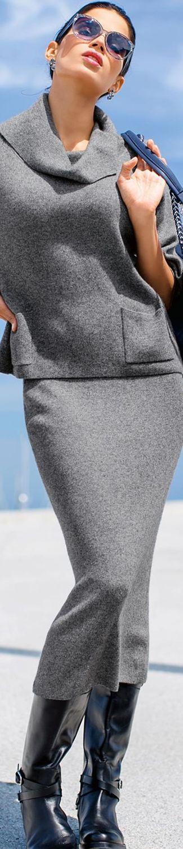 MADELEINE Grey Skirt and Top