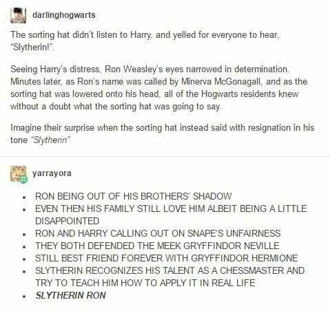 AU Slytherin Harry Potter and Ron Weasley