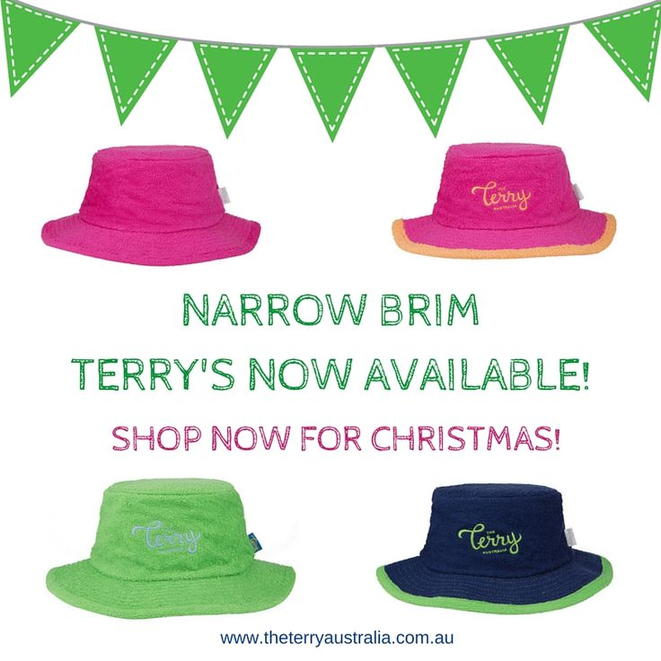 Christmas is nearly here! Narrow Brim Terry Towelling Hats are now available.