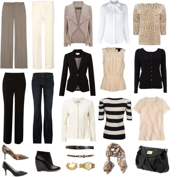 """""""Capsule Wardrobe - Neutrals and No Skirts"""" by wardrobeoxygen on Polyvore"""