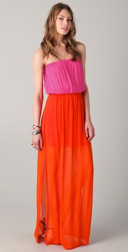 ONE by Chelsea Flower Colorblock Maxi Dress
