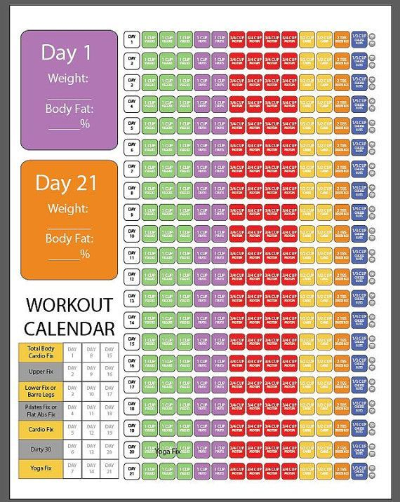 I created this log sheet for anyone who wants all they need for the 21 day fix on just one page! Its a simple checklist and all you do is check