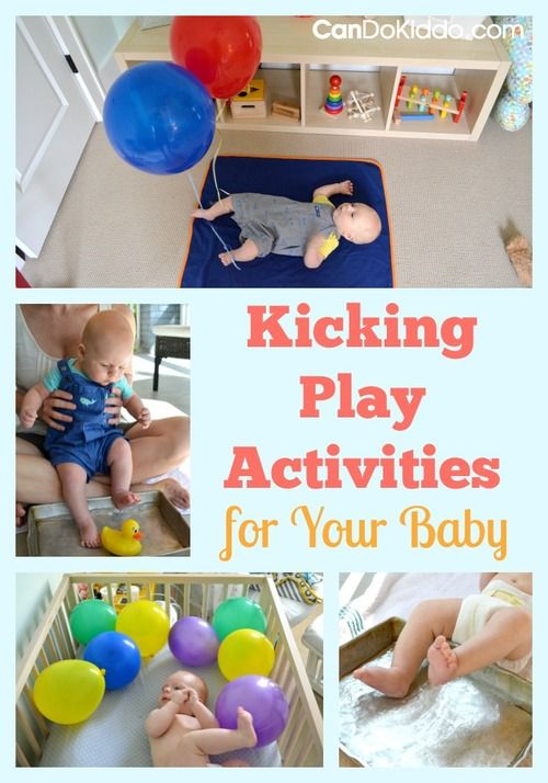 Creative, simple play ideas for newborns. Learn how kicking makes baby strong and smart. CanDo Kiddo