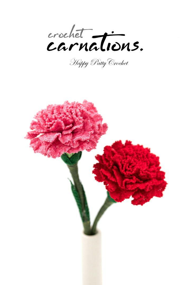 Crochet Pattern For A Carnation Flower By Happy Patty Crochet Crochet Flower Pattern For Arrange Crochet Flowers Crochet Puff Flower Crochet Flower Patterns