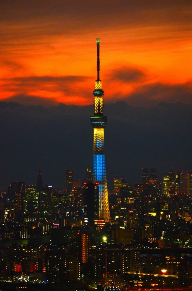Tokyo Sky Tree, Japan. I know I had drinks up there with tucky, at a super fancy bar, cried and stormed out, then Tucky cried, and then we both came back...I forget why.
