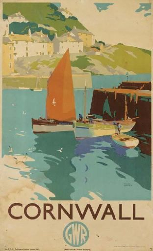 Love this beautiful poster of Cornwall