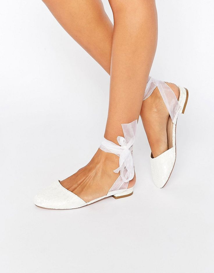 shoe crush  -- IDEA - use ribbon to spice up ya sandals   1 of ASOS LAUREL Ballet Flats