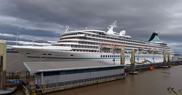 Artania cruise ship at Liverpool Cruise Terminal. Photo by Colin Lane August 2016