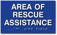 "Area Of Rescue Assistance ADA Signs - 10"" x 6"" - from ADA Sign Depot - the Trusted Source for American Made ADA Signs and Products"