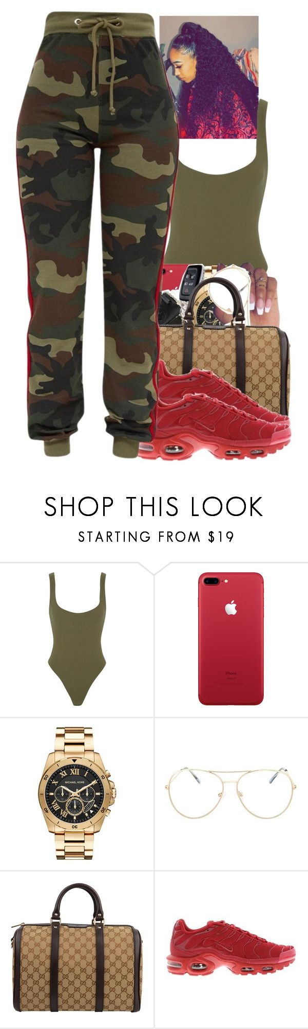 Untitled #2297 by txoni on Polyvore featuring Alix, Gucci, Michael Kors, Topshop and NIKE