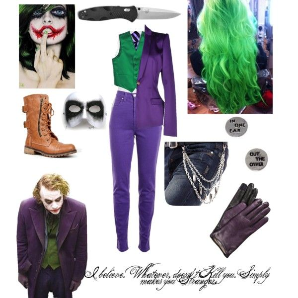 Gender Bent Joker Outfit by chloesue0327 on Polyvore featuring polyvore fashion style American Vintage Just Cavalli Versace Jeans Couture Nature Breeze Masquerade Eska