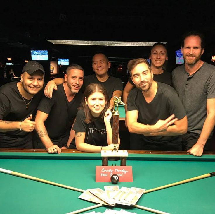 Society Billiards + Bar Leagues Coed teams champions
