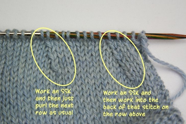 Knitting In The Round Decreasing Stitches : Best 25+ Knit stitches ideas on Pinterest