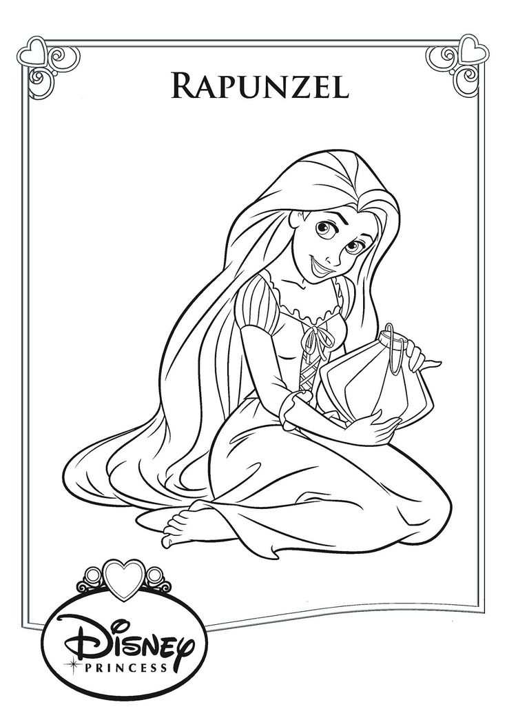 Rapunzel Color Pages to Print Rapunzel coloring pages