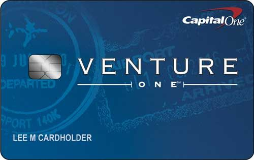 Capital One® VentureOne   Rewards Credit Card   Capital One® VentureOne® Rewards Credit Card rewards you with 1.25 miles per dollar on every purchase, compared to its better-known sibling's 2X-miles-per-dollar offer. However, with no annual fee, this card could defy the rule that travel rewards credit cards come with strings attached.