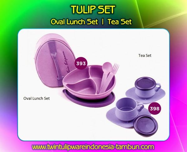 OVAL LUNCH SET & TEA SET - Produk #Tulipware Terbaru 2014