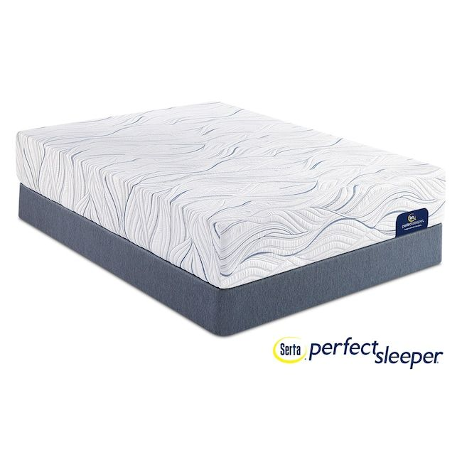 Mattresses and Bedding - Caledonian Plush Full Mattress and Low-Profile Foundation Set