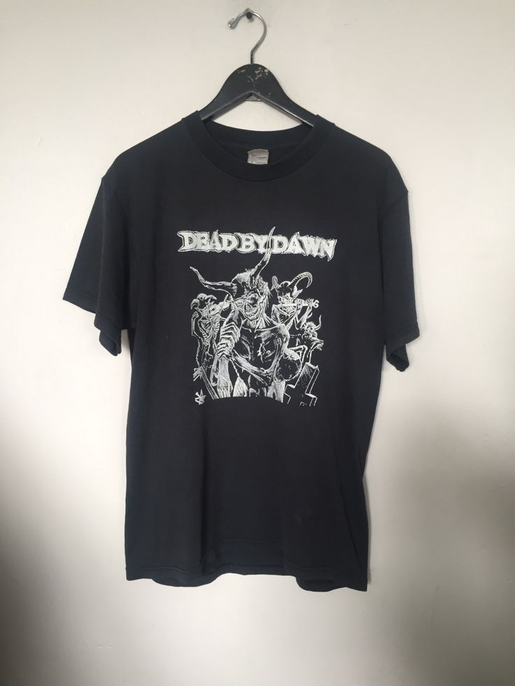 Dead by Dawn tshirt, vintage t shirt, black metal shirt, death metal band shirts, band t-tshirts, satanic clothing, black t-shirt, large by CottonFever