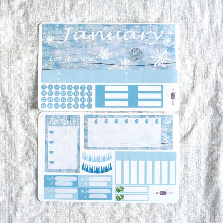 January Monthly kit / Erin Condren Monthly by VikingDesigns1 on Etsy