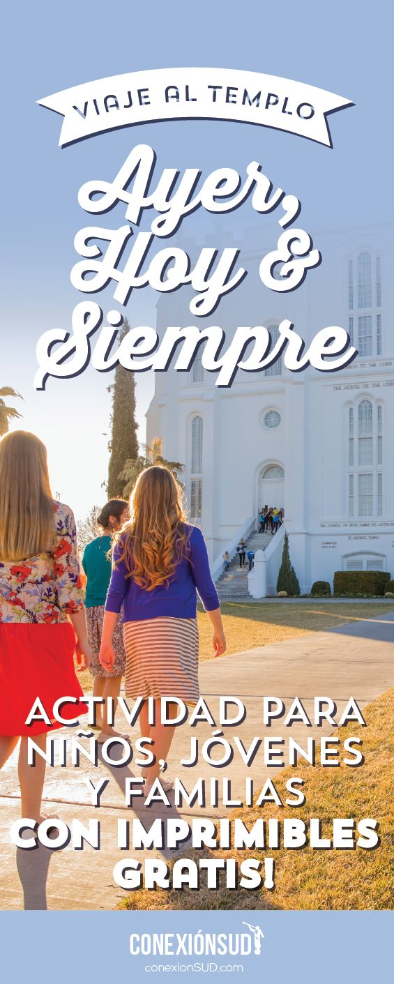 Esta es una actividad que hicimos con los niños de la Primaria en un Viaje al Templo. Participamos de diferentes estaciones para conocer más del Templo y entender como influye en nuestra familia muchas generaciones hacia atrás, como es una fuente de inspiración hoy y cómo nos bendecirá siempre. Que comience el viaje!