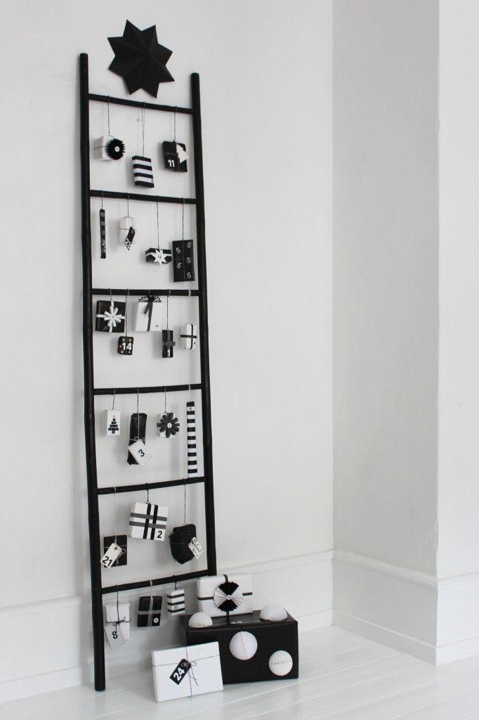 black and white advert calendar
