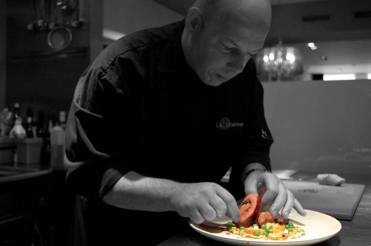 Bart Kuster chef van restaurant La Boheme Maastricht in actie. www.restaurantlaboheme.nl