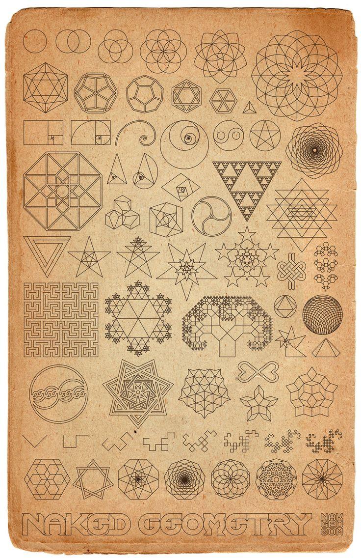 Old World Naked Geometry 11 x 17 archival giclée by NakedGeometry