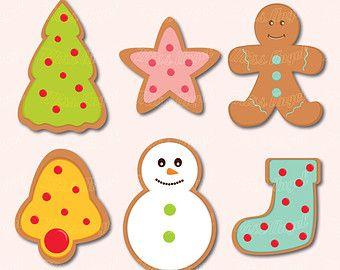 Cute Christmas Cookies Clipart Digital Xmas Clip Art 6 Printable Christmas Party Cliparts Christmas Tree Xmas Clip Art Christmas Clipart Christmas Cookies