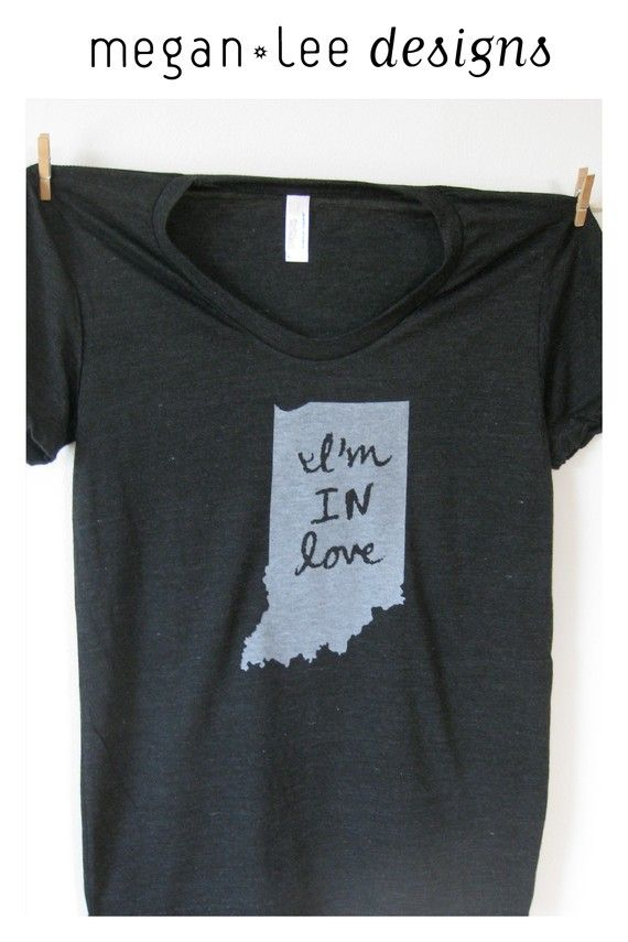 Women's I'm IN Love Tshirt Indiana love