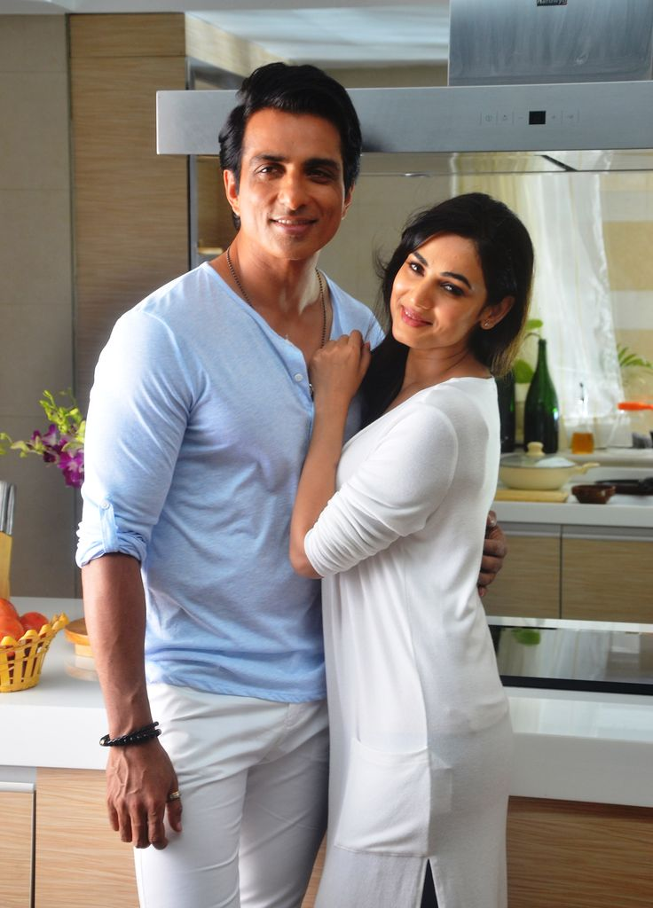 Sonu Sood and Sonal Chauhan at an ad shoot for Texmo Pipe Fittings in Madh Island..