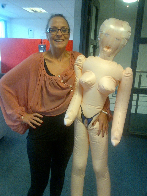 Our sales manager Claire and her replacement for when she's out of the office!