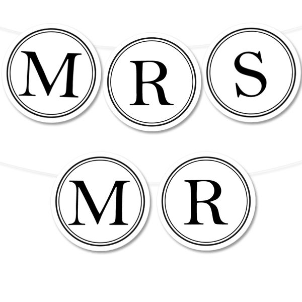 Free Printable & Editable Circle Baner | Printable Weddings - type in your own text and print! #freeprintable #wedding