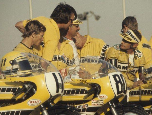 Team Yamaha 1973 Ontario, California Motor Speedway