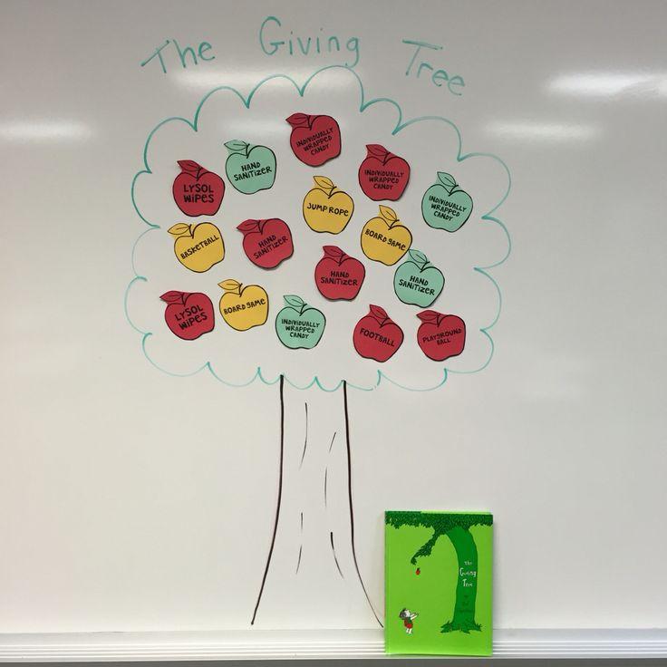 "Teacher Wish List Display: ""The Giving Tree"""