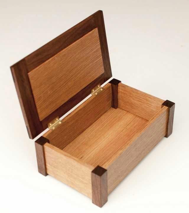Rift Sawn White Oak And Walnut Box Imgur Woodworkingtable Wooden Box Designs Small Wood Box Wooden Box Plans
