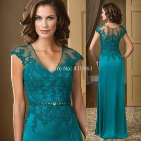 Vestido mae da noiva Hunter Elegant V Neck Lace Mother of the Bride Dresses Plus Size Chiffon Evening Pants Cap Sleeve M2194