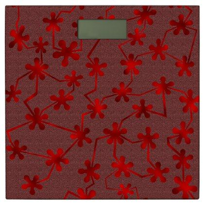 #Blobs and Bars Red Bathroom Scale - #Bathroom #Accessories #home #living