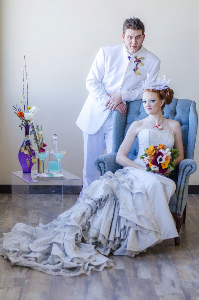 Styled Shoot: A Hunger Games Capitol Citizen Wedding