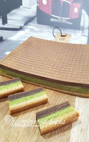 The Baking Biatch || by Cynthia Lim: Tri-coloured Kueh Lapis Legit (Chocolate, Pandan and Original)